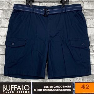 NEW Buffalo Size 42 Belted Rip Stop Cargo Shorts